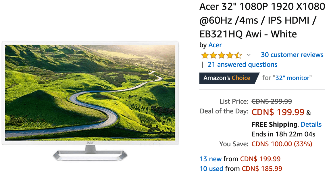 Stupendous Amazon Canada Deals Of The Day Save 33 On Select Acer Download Free Architecture Designs Ferenbritishbridgeorg