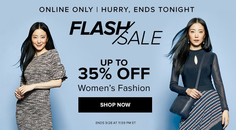 Hudson's Bay Canada Online Flash Sale: Today, Save up to 35% off Women's Fashion + Beauty Week Coupon Code Deals