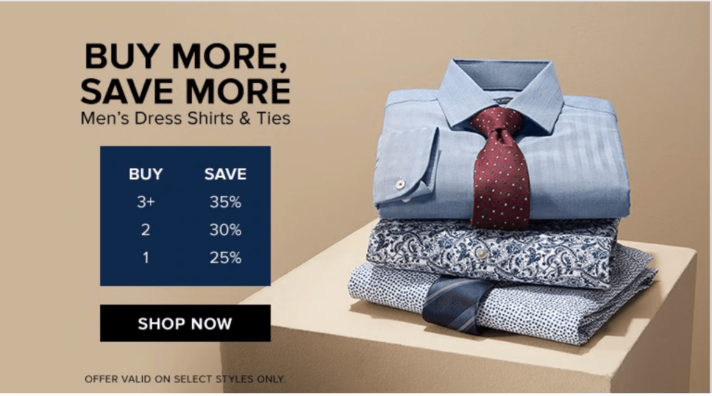 Hudson's Bay Canada Sale: Buy More, Save More, Save 25% – 35% off Dress Shirts & Ties