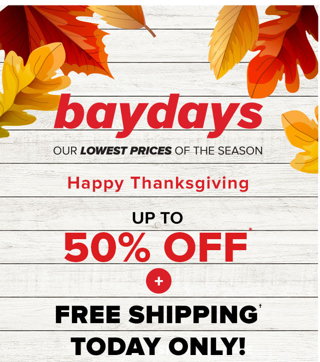 Hudson's Bay Canada Thanksgiving Promotion: FREE SHIPPING with No Minimum + Up to 50% OFF