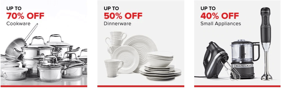Hudson's Bay Canada Bay Days Deals: FREE Shipping TODAY Only + Save up to 70% off Cookware, 50% off Dinnerware & 40% off Small Appliances + Save up to 50% off Sitewide