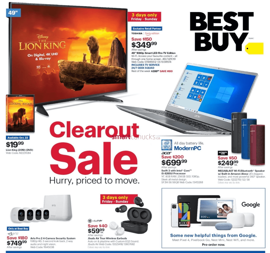 Best Buy CanadaClearout Sale: Save up to $700 on TVs, $200 on Laptops $ More