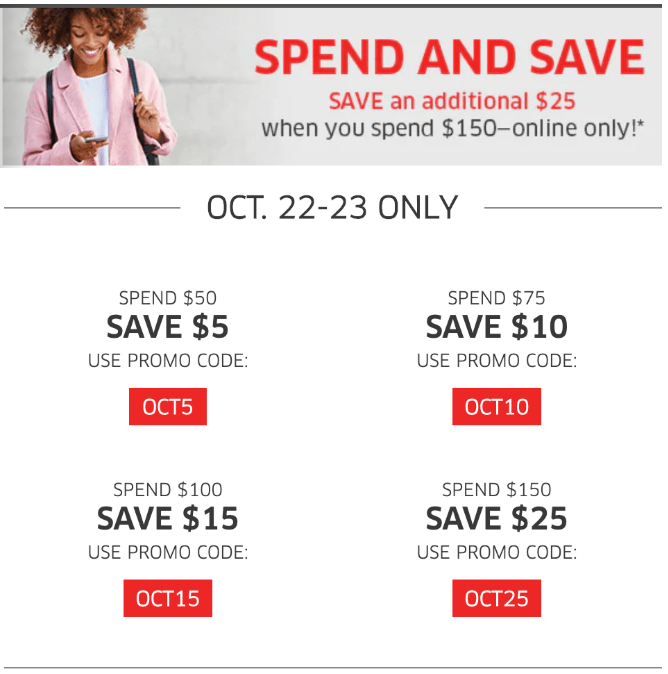 The Source Canada Spend and Save Sale: Save $5 – $25 on Your Online Purchase