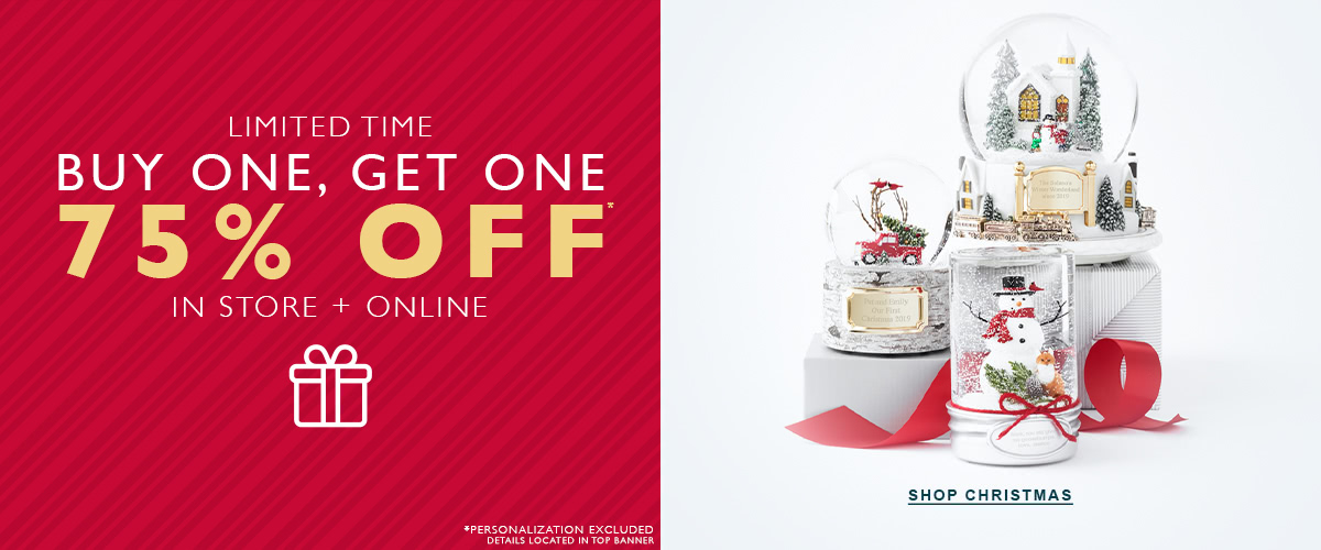 Things Remembered Canada Sale: BOGO 75% Off + $3.99 Personalized Ornaments + More