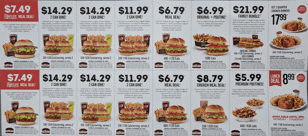 Harvey's Canada Black Friday Coupons: Lightlife Meal Deal for $7.49 & More Coupons