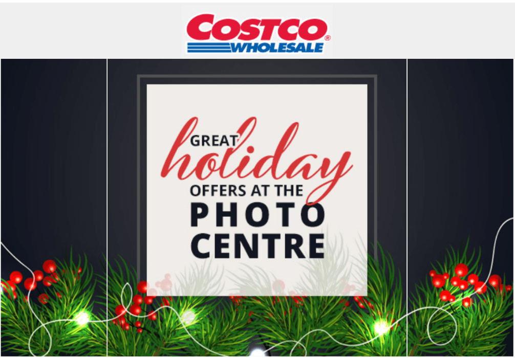 Costco Canada Photo Centre: Great Holiday Offers!