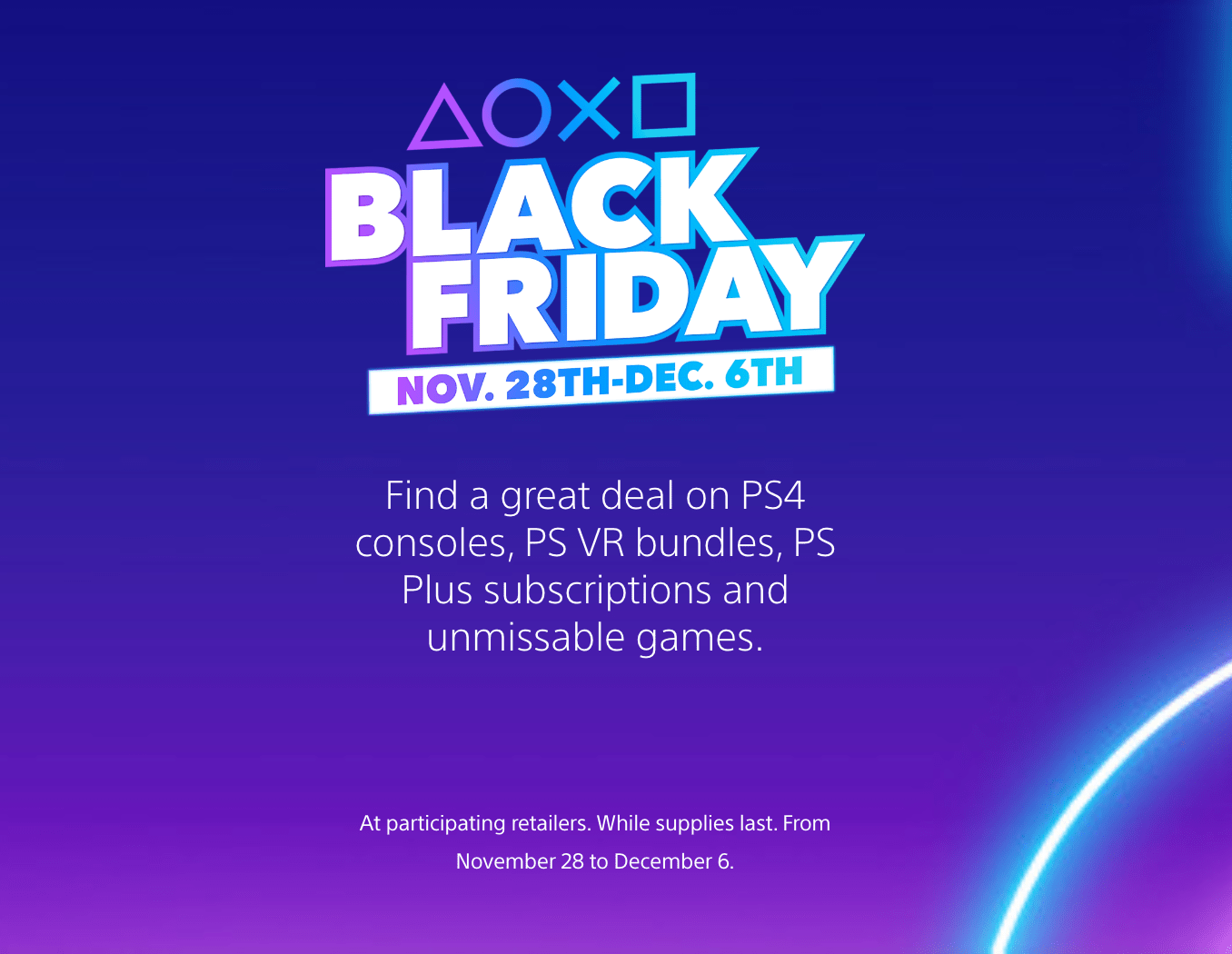 PlayStation Sony Online Entertainment Canada Black Friday