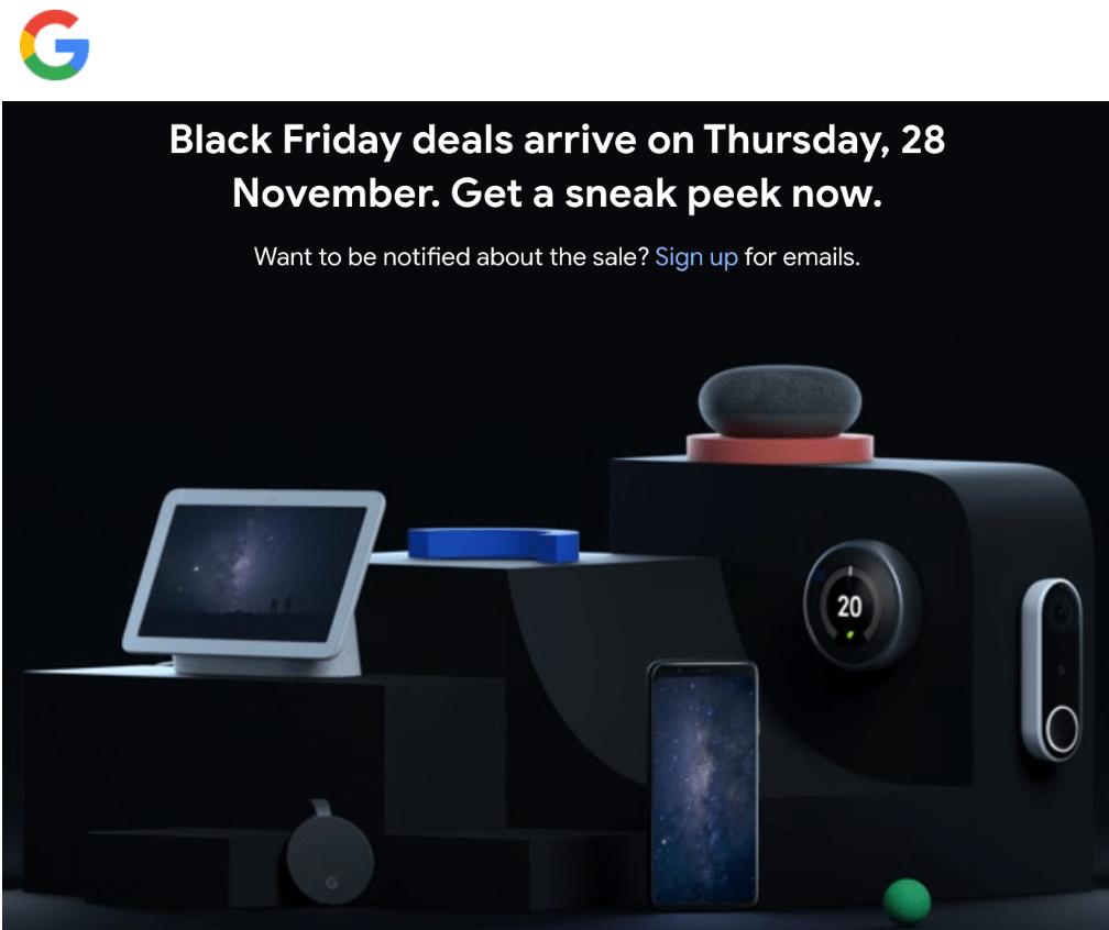Google Canada Black Friday 2019 Deals!