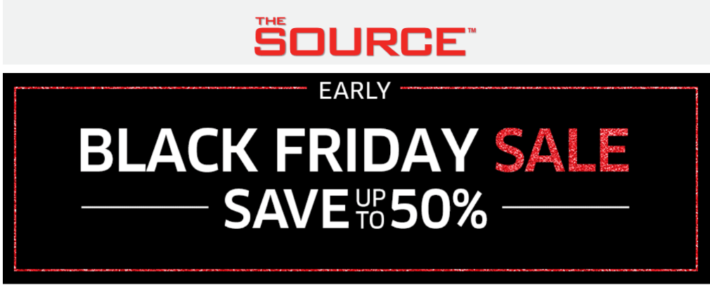 The Source Canada Early Black Friday 2019 Sale: Save up to 50% off