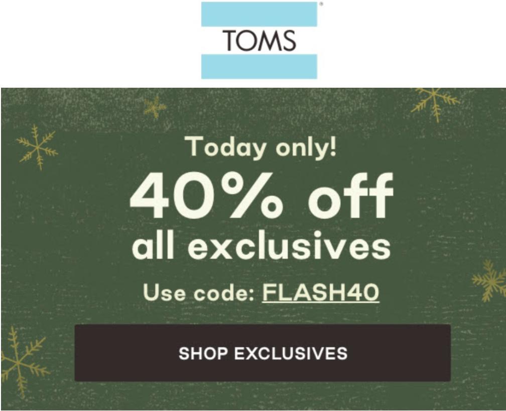 TOMS Canada Pre Black Friday Sale