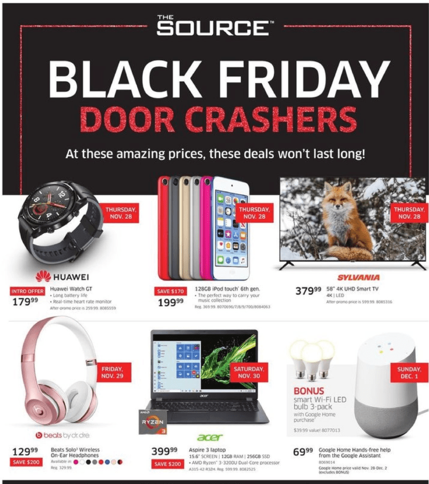The Source Stores Black Friday Canada