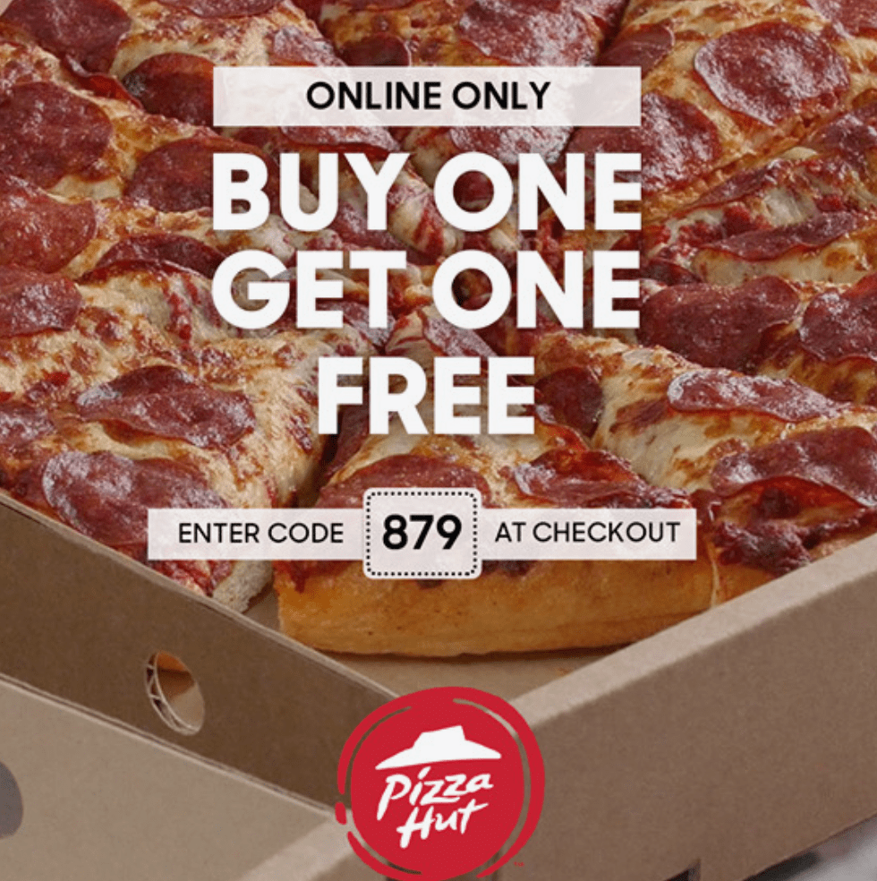Deal With The Hutt: Pizza Hut Canada Black Friday Online Deal: BOGO FREE