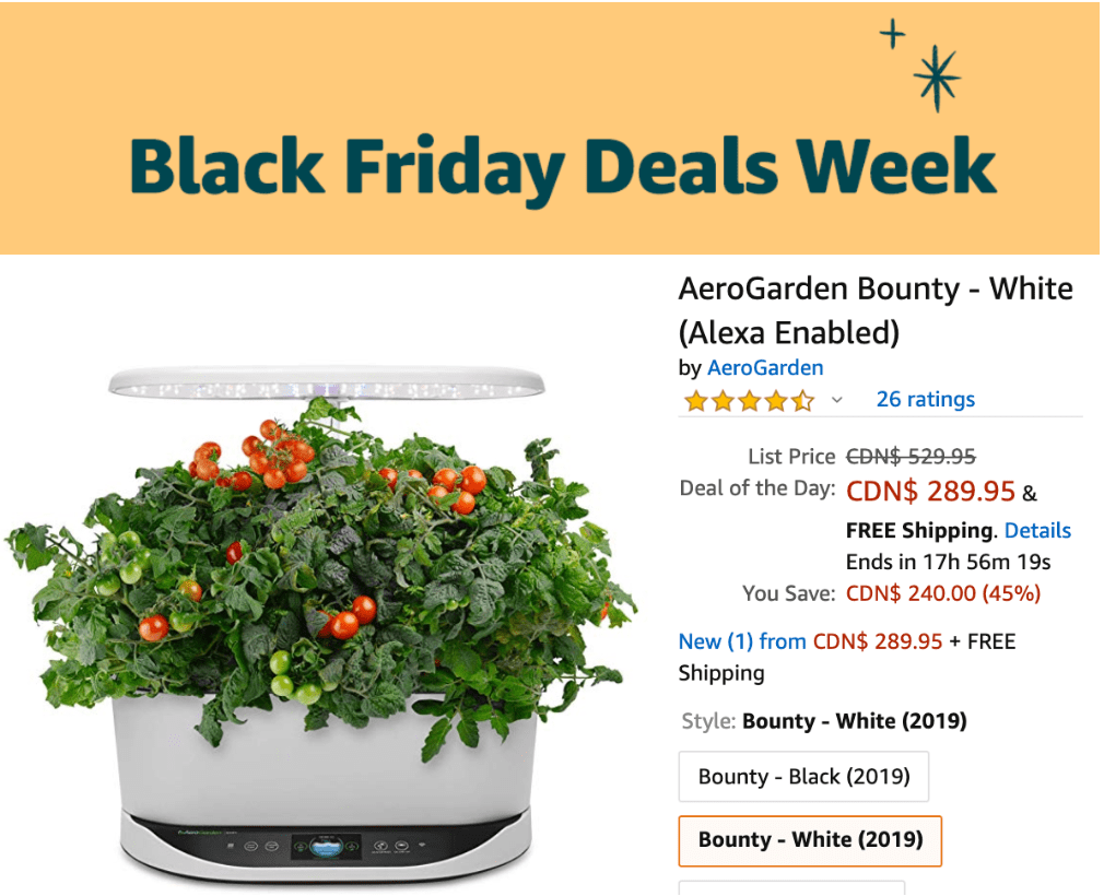 Amazon Canada Black Friday Deals Week: Today, Save 45% on