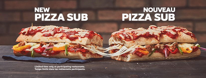 Subway Canada New Deluxe Pizza Sub Canadian Freebies Coupons Deals Bargains Flyers Contests Canada