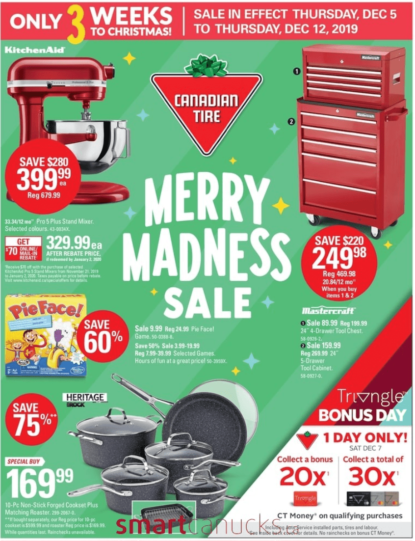 Canadian Tire Merry Madness Flyer Sale: Save up to 75% off