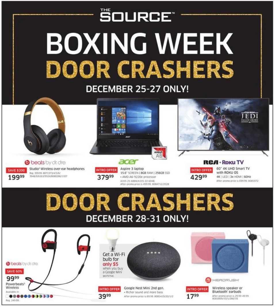 The Source Canada Boxing Day Boxing Week 2019 Flyer Deals Canadian Freebies Coupons Deals Bargains Flyers Contests Canada
