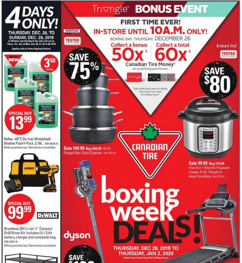 Canadian Tire Boxing Day Boxing Week 2019 Flyer Deals Canadian Freebies Coupons Deals Bargains Flyers Contests Canada