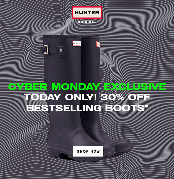 Hunter Boots Canada Cyber Monday Sale