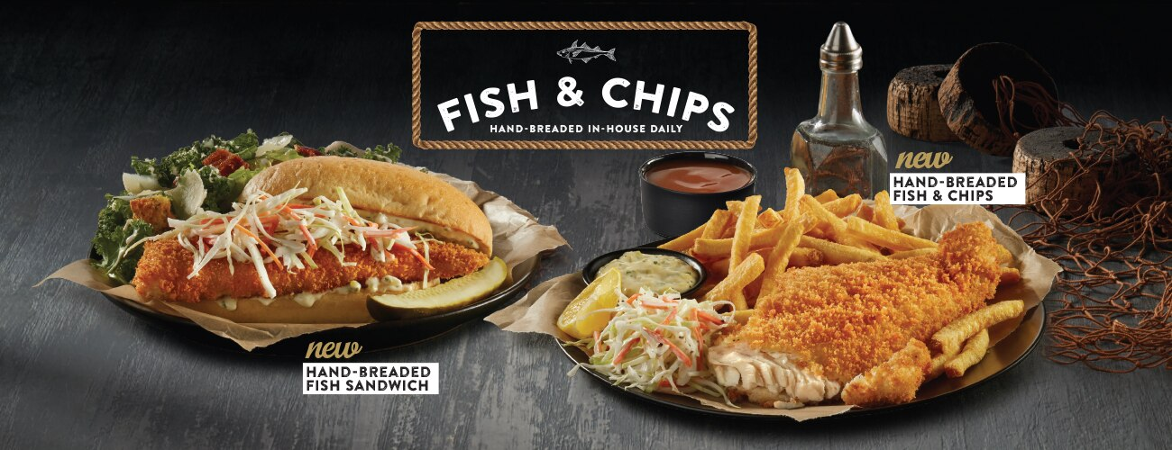 Swiss Chalet Canada New Hand Breaded Fish Sandwich And