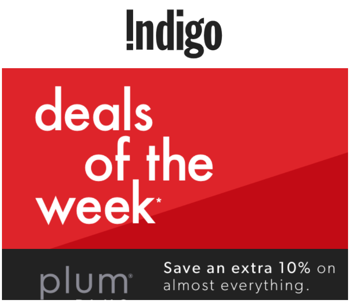 Indigo Canada Hottest Deals of the Week: Save up to 65% off + FREE Shipping No Minimum Now On!
