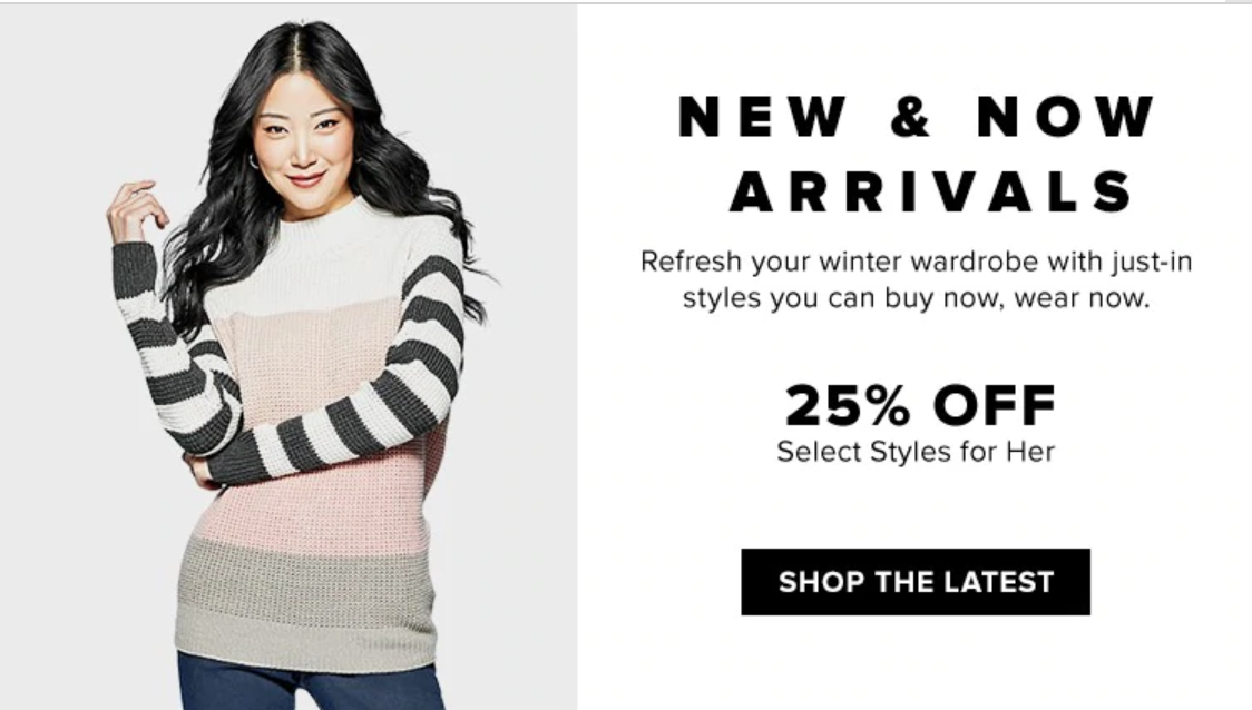 Hudson's Bay Canada Offers: Save 25% off New & Now Arrivals!