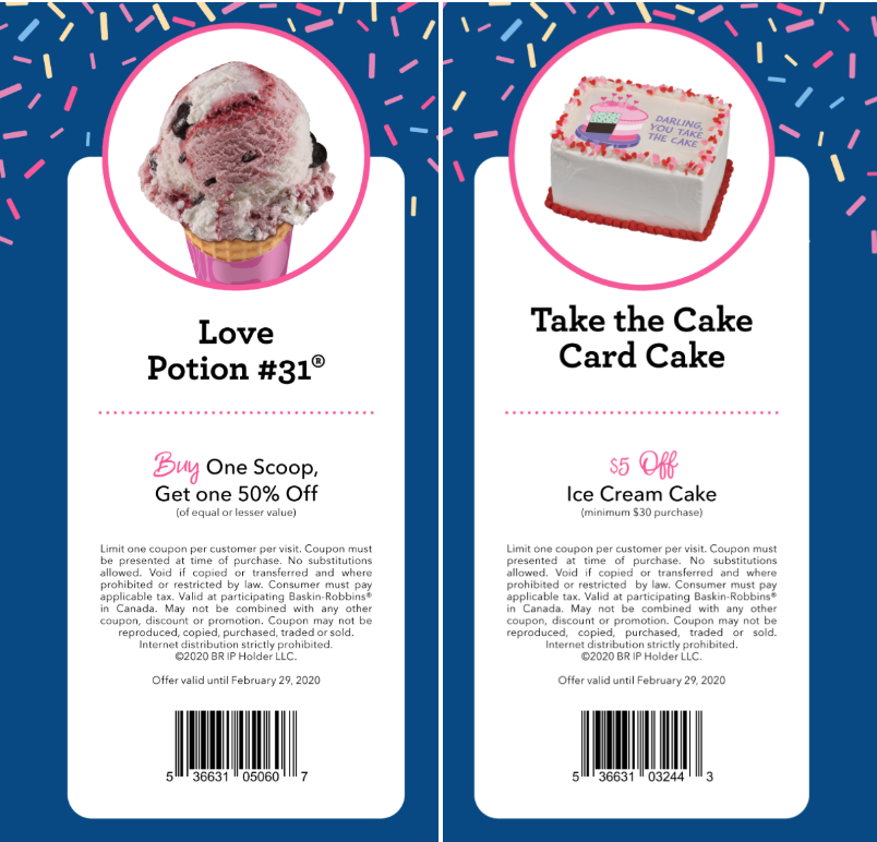 It's just a picture of Smart Baskin Robbins Printable Coupons 2020