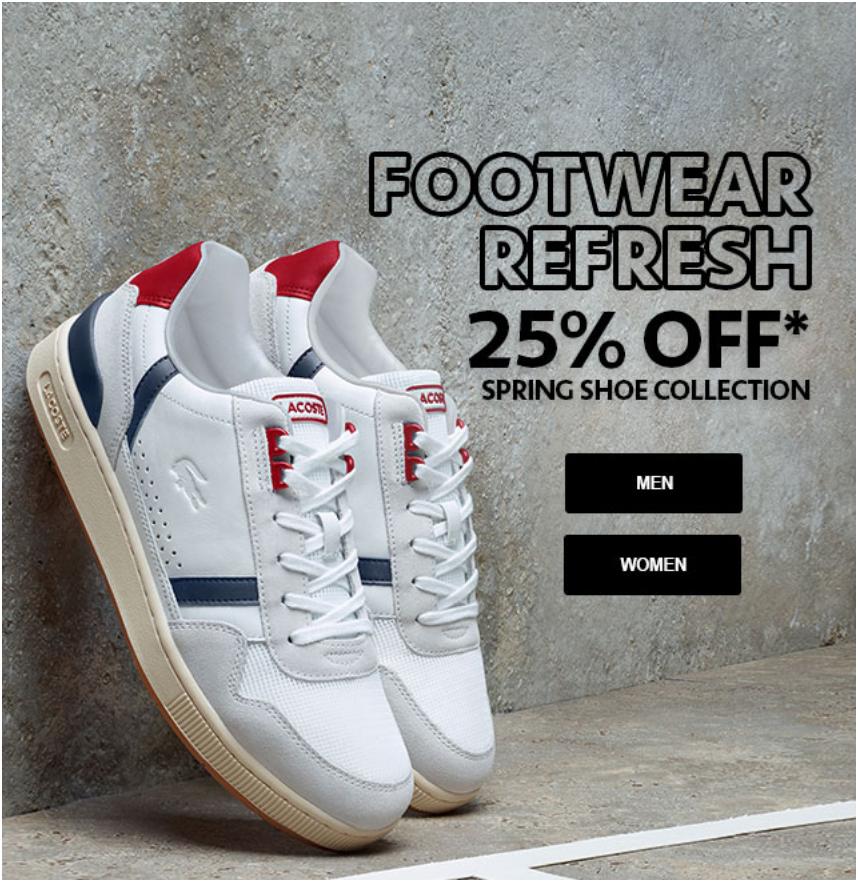 Lacoste Canada Online Footwear Refresh