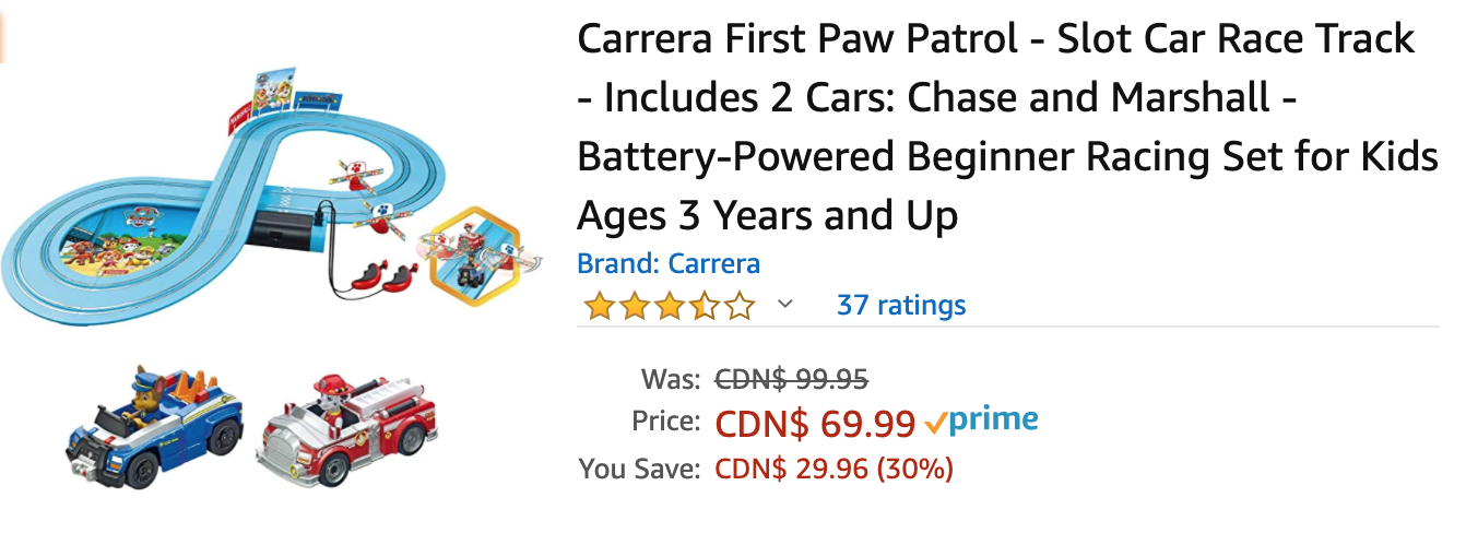Amazon Canada Deals: Save 30% on First Paw Patrol – Slot Car Race Track + 41% on Double-Sided Heavy Duty Mounting Tape + 42% on Home Wi-Fi Smart Color Programmable Thermostat + More Offers