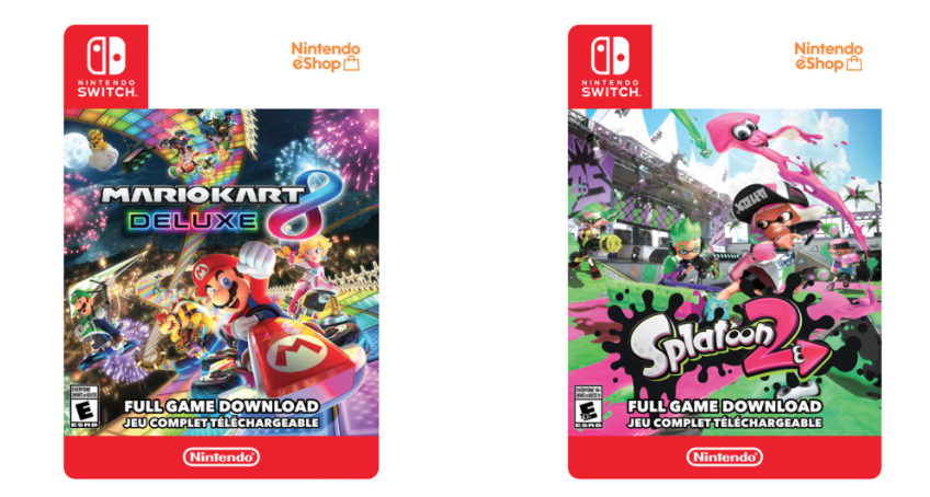 Best Buy Canada Offers: Buy Two Nintendo Switch Digital Games and Get FREE Lexar 128GB 95MB/smicroSDXC Memory Card.