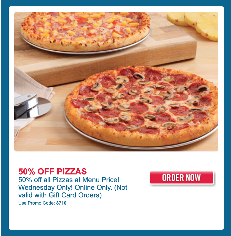 Domino S Pizza Canada Special Offer Today Save 50 Off All Pizzas When You Order Online Canadian Freebies Coupons Deals Bargains Flyers Contests Canada