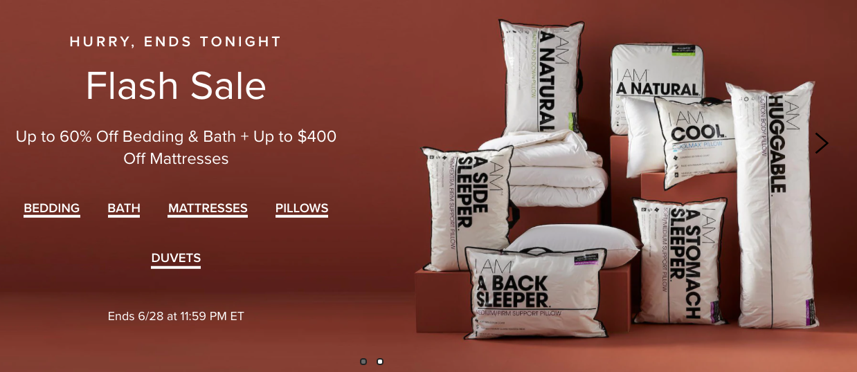 Hudson's Bay Canada Flash Sale: Today, Save up to 60% off Bedding & Bath + up to $400 off Mattresses
