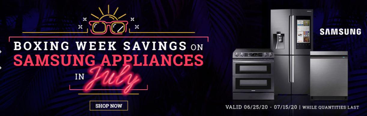 Costco Canada Boxing Week Savings in July: Great Savings on Samsung Appliances!