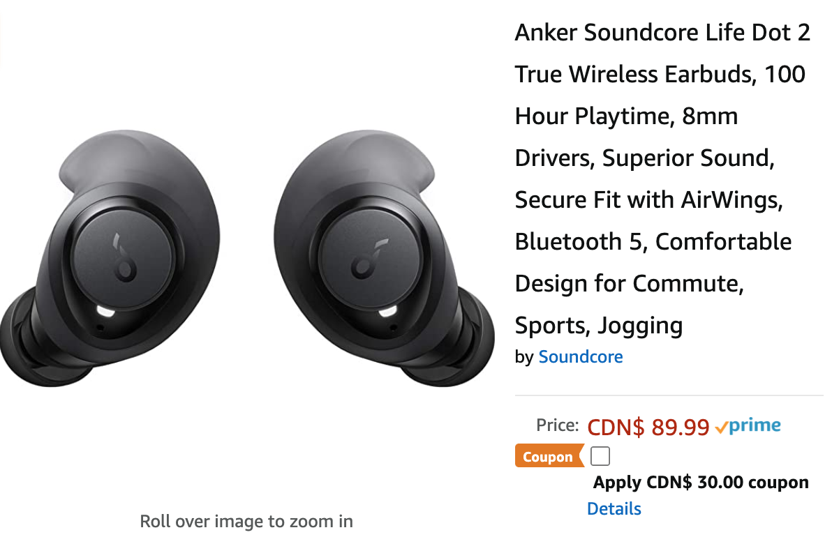 Amazon Canada Deals Save 33 On Anker Soundcore Life Dot 2 True Wireless Earbuds With Coupon 47 On Starfrit Starfrit Food Mill More Offers
