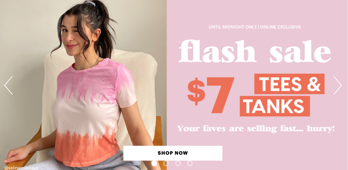 Ardene Canada Flash Sale: Tees & Tanks for only $7 + up to 50% off on Everything + More Offers