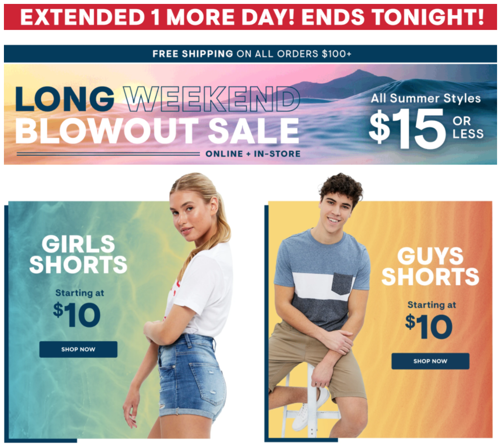 Bluenotes Canada Summer Flash Sale: $15 or Less!