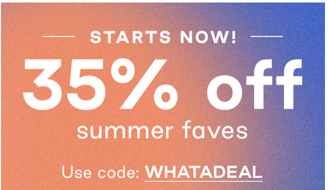 Summer Fave Using Coupon Code
