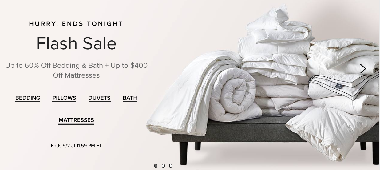 Hudson's Bay Canada Flash Sale: Today, Save up to 60% off Bedding + up to $400 off Select Mattresses
