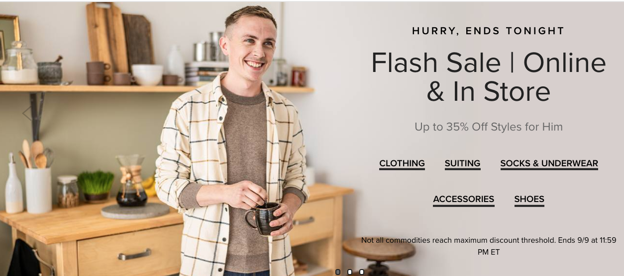 Hudson's Bay Canada Flash Sale: Today, Save up to 35% off Style for Him