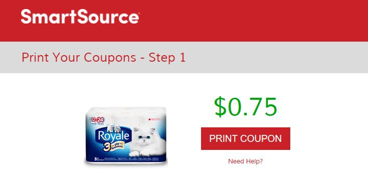 Smartsource Canada Coupons Save 75 Cents On Royale 3 Ply Bathroom Tissue