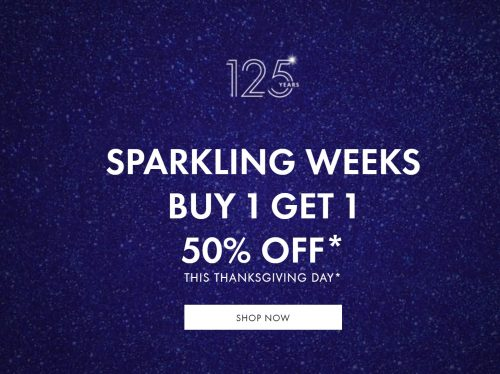 Swarovski Canada Thanksgiving Sale Buy 1 Get 1 50 Off Many Items Including Necklaces Bracelets Earrings Canadian Freebies Coupons Deals Bargains Flyers Contests Canada