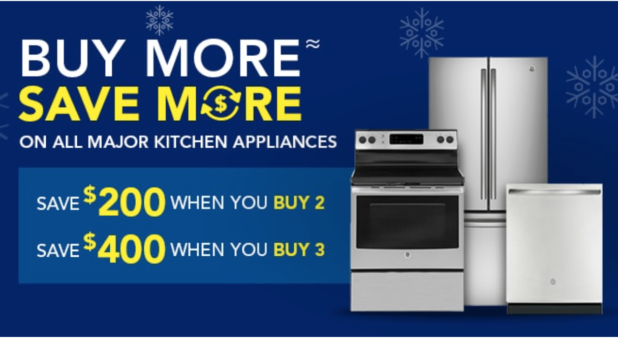 Lowe S Canada Holiday Weekly Sale Save 400 When You Buy 3 Major Kitchen Appliances More Canadian Freebies Coupons Deals Bargains Flyers Contests Canada