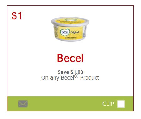 SmartSource Canada Coupons: Save $1 On The Purchase Of Any Becel Product