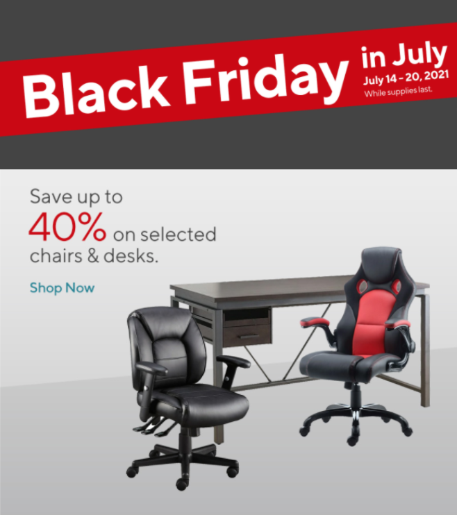 Staples Canada Black Friday In July, Furniture Black Friday Canada